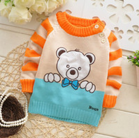 Cheap [E-Best]Hot Sale!! Retail !!1 pc lot Baby Cartoon bear sweater Kids cute pullovers Autumn Winter cool tops Baby clothes