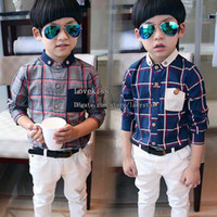best wholesale t shirts - Fashion Autumn Boys Shirts Children Clothes Kids Clothing Best Shirts Child Shirt Kids Shirts Korean Long Sleeve T Shirts Children L38196