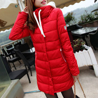 Wholesale 2014 Winter Autumn Parka Womens Cotton Padded Coat Slim Candy Color Down Jacket Long thickening Wadded XXL