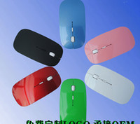 Wholesale 2 GHz Wireless Mouse Portable Optical Mouse with USB Dongle colorful For PC Laptop