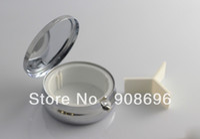 Cheap 96pcs Bigger Metal Blank Pill boxes DIY Storage Box Medicine Organizer container Silver 6cm-Express Free Shipping