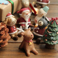 animal nativity - Chirstmas Gift Decoration Indoor Ornaments Cartoon Animal Figurines Nativity Creche Cute Snowman Santa Deer Animal Quality Resin
