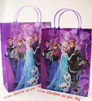 Wholesale frozen Gift Link For Customers Shopping Bags size elsa anna printed gift bags for children boutique clothes packing bag FD9