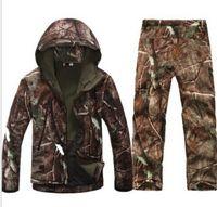 Wholesale Tactical winter TAD Gear V combat uniform Hoodie Soft Shell SharkSkin Waterproof Fleece Coat Jacket Pants Hoody Clothing