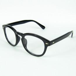 Wholesale New Arrival Optical Frame Johnny Depp Eyeglasses Frame Round Frame Rivet No Brand Colors