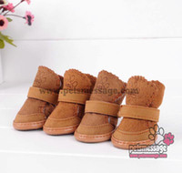 shoes for dogs - for Dogs Shoes Socks Pet Dog Winter Shoes Boots Snow Shoes MOQ pairs Pink Brown Color XS S M L XL Sizes