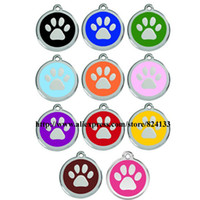 best pet tags - best selling paw shaped dog tags for pets mm round disc id tags alloy pet id tags pendant dhl