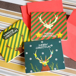 Merry Christmas MINI Greeting Card Christmas Antlers Note Message Card Christmas Gift 100pcs lot SD139