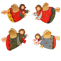 Wholesale Christmas Gift Happy Angel Resin Refrigerator Fridge Magnets Magnetic Sticker Funny Resin Great Quality