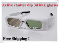 Wholesale Rechargeable Active Shutter DLP d Link Glasses Hz for POP dlp D Projector W1070 W700 Acer Free Fast Shipping