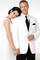 Cheap 2015 Custom Design Slim Fit White One Button Shawl Lapel Groom Tuxedos Wedding Suits for men Business Suit (Jacket+Pants+Tie+Vest)S441