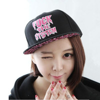 Cheap free shinppingFree shipping Korean version fuck hip-hop hip-hop flat -brimmed hat baseball cap men and women Hip-hop flat brimmed hat Haraju
