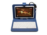 Wholesale Q88 quot Tablet PC PU Leather Keyboard Stand Case For Inch iRuLu Kids Tablet PC Q88 quot Keyboard Cover Case Best Gift For Chri