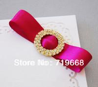 crystal napkin ring - Hot Sale in Stock Rhinestone Buckle Diamante Crystal Slider Silver Wedding Invitation buckle Scrapbooking Napkin Ring