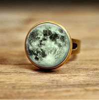 Band Rings Asian & East Indian Anniversary RC48- New Fashion full moon ring Galaxy Nebula rings knuckle ring midi ring