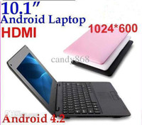 Wholesale cheap DHL New arrival laptop Google Android OS VIA computer for kids notebook inch Netbook MB G wifi HDMI RW L