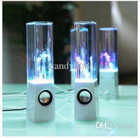 Wholesale cheap Dancing Water Speaker Active Portable Mini USB LED Light Speaker For iphone ipad PC MP3 MP4