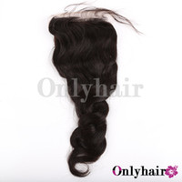 "Brazilian Hair Natural Color Natural Wave Free Shipping Silk Based Closure Brazilian Nature Wave, Cap Size 4"" x 4"""