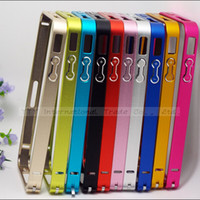 Wholesale H Colors Pretty Metal Hard Anti Wear Bumper Frame For iPhone Case iPhone S Cover Fit For iPhone4 iPhone4S Cell Phone Shell