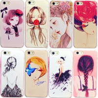 Cheap CH:Low Price Beautiful Cute Girls painted Cases for Apple iphone 4 4S 4G Case For iPhone4 iPhone4S Cover Cell Phone Shell-::&72A-163