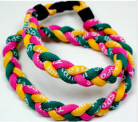 Wholesale Sale NEW Rope Titanium Twist Sport Necklace all colors mix or match your reqeustTornado Baseball