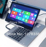 Wholesale DHL G RAM G HDD G SSD inch rotating screen laptop touch screen ultrabook Celeron dual core Ghz Win7