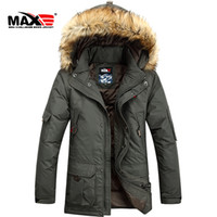 Wholesale NEW Brand Winter jacket men fur collar long Men s clothing Thickening Plus size hooded Down coat M XL
