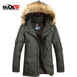 NEW 2016 Brand Winter jacket men fur collar long Men's clothing Thickening Plus size hooded Down coat M-6XL