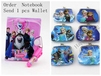 Wholesale Hot New Frozen Elsa Anna Book Notebook with a Pen Student Diary Frozen Elsa Anna Book Student Notepad CM