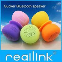 Wholesale Sucker Wireless Bluetooth Car Handsfree Speaker Mini Stereo Subwoofer Receive Calls