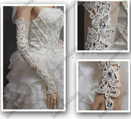 Wholesale White Bridal Glove Wedding Gloves Lace No finger Hot Sell HN