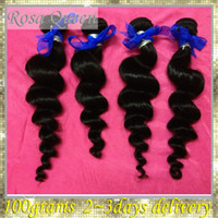 Cheap 6A FREE SHIPPING unprocessed virgin Indian hair bundles Loose Wavy 4pcs lot could be dyed or bleached, full and thick
