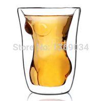 Cheap Free shipping 4pcs Naked Female Shot Glass Women Torso Shot Glass Lady Shot Glasses drinkware coffee cup mug Creative Gadgets