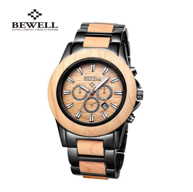watch bewell wood watch mens maple wood watch top fashion see larger image