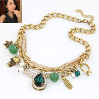 green statement necklace