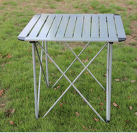 Wholesale Folding table aluminum alloy outdoor portable picnic tables and chairs camping car table