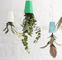 Wholesale Hanging Plastic Pots Vase Garden Sky Planter Home Decoration Upside Down Plant Pot
