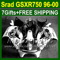 Wholesale Lucky Strike Black white gifts Fairing For SUZUKI GSXR GSX R750 MPR280 GSXR750 GSXR SRAD