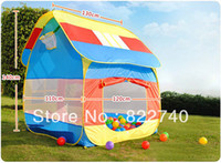 Cheap lovely New Sunmmer Multicolor Portable Childern kids Camping Tent Playing Indoor&Outdoor Baby play house free shipping