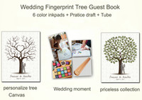 Wholesale Wedding Decoration Customized Wedding Fingerprint Tree Guestbook Personalize Wedding Gifts