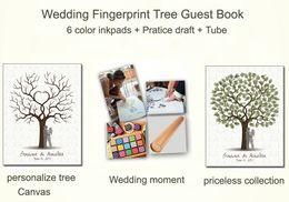 Wholesale Wedding Decoration Customized Wedding Fingerprint Tree Guestbook Personalize Wedding Gifts