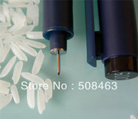 Wholesale Free ship black write pen Point Name On Rice drawliner Writing Pen DIY TOOL