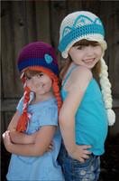 Summer baby crochet beanie pattern free - Crochet Pattern FROZEN Queen Elsa Princess Anna Winter Hat Newborn Toddler Baby Girls Cartoon Character Cap Children s Beanie