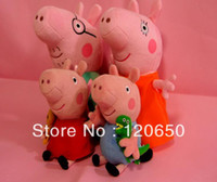 Wholesale In stock Free EMS to Australia Peppa Pig Plush Toys small size family sets cute peppa pig soft toys