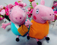 Wholesale EMS Peppa pig mummy pig and daddy pig plush Doll Toys cm