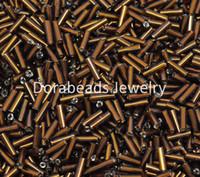 Cheap 450 Gram Coffee Foil Tube Glass Seed Beads 7x2mm (B12120), yiwu