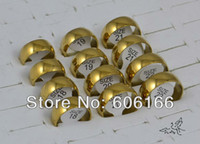 ring size 4 - 100pcs mm Wedding Bands Engagement Ring Mix Size Gold Tone Polishing Dome Half Round Stainless Steel Rings Fashion Jewelry