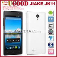 Cheap New Arrival Jiake JK11 MTK6582 Quad Core Mobile Phone Android 4.2 OS 1GB RAM 4GB ROM 5.0 Inch QHD Screen 5.0MP Camera WCDMA 3G