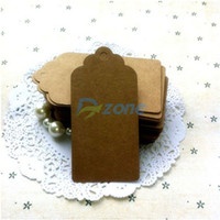 Wholesale 50Pcs DIY Kraft Paper Gift Tags Wedding Birthday Label Blank Lage Cards