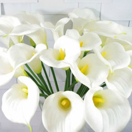 Calla Lily Bridal Wedding Bouquet head Latex Real Touch Artificial Flower Decor Hot#50984